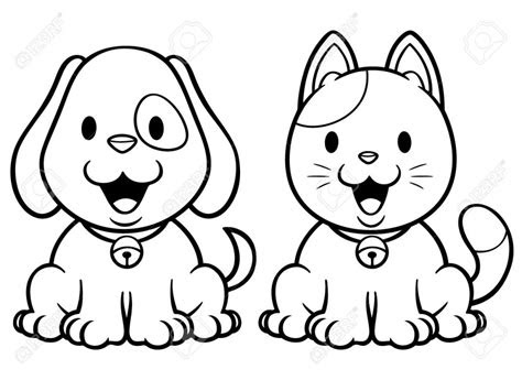 cat  dog coloring pages  print  getcoloringscom