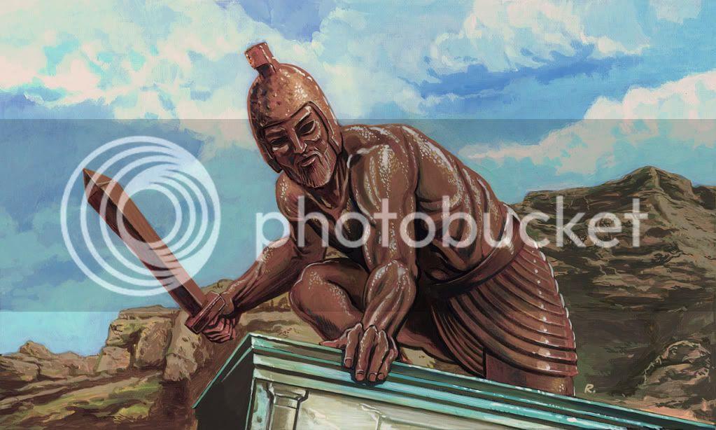 Graeme Neil Reid,Painting,Talos,Jason and the Argonauts
