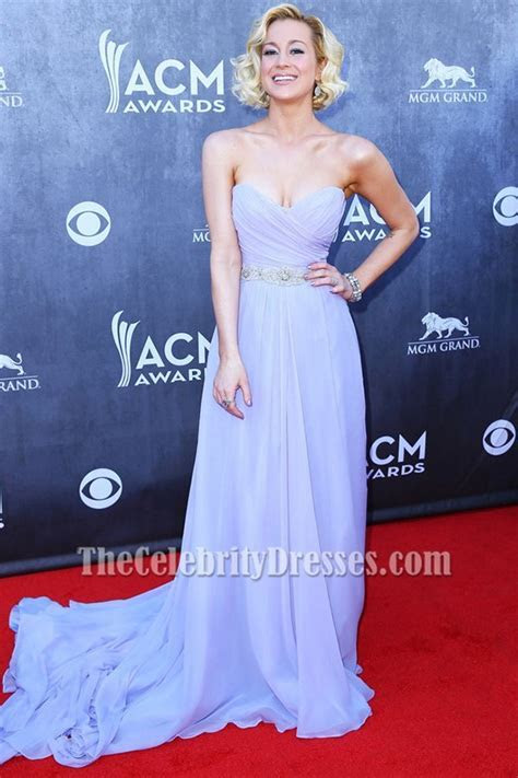Kellie Pickler Lavender Prom Dress 49th Annual Academy of