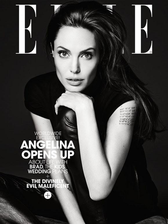 Angelina Jolie by Hedi Slimane Elle US 01