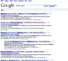 The Search Results that showed every page had ...