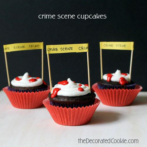 crime scene cupcakes