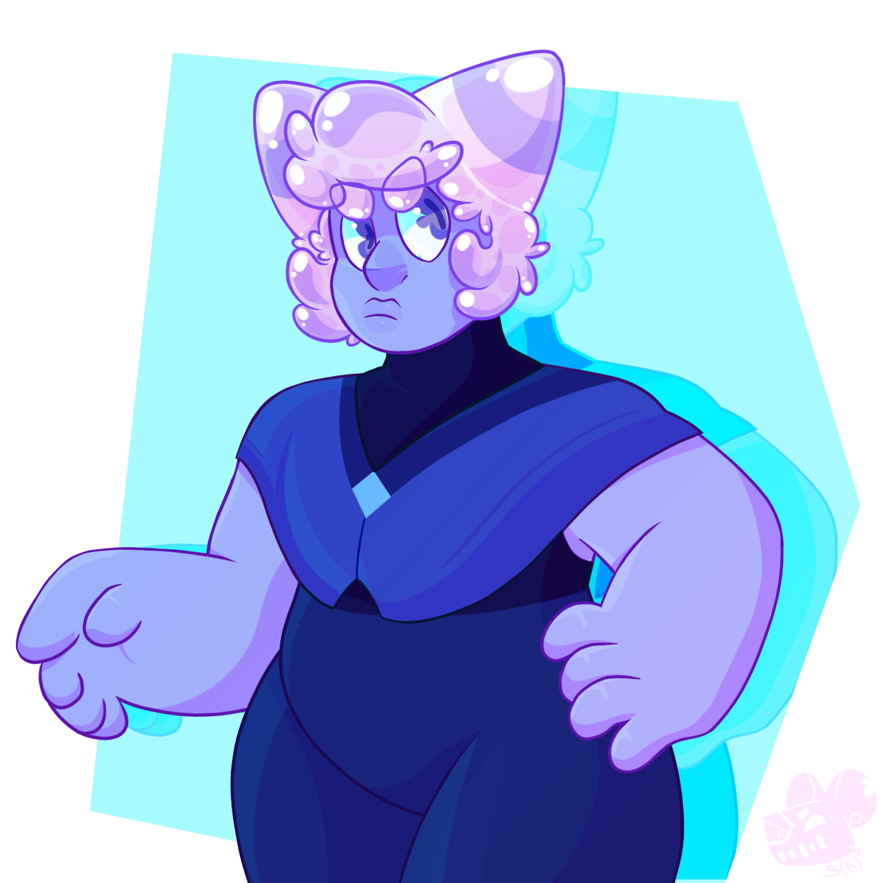 ". • ° *✨BIG BLUE✨ * ° • .""Ok so it's my first time drawing Holly and I really need to get my shading better but i don't think is bad for such a fast doodle! A lil surprise gift for @molded-from-clay,..."