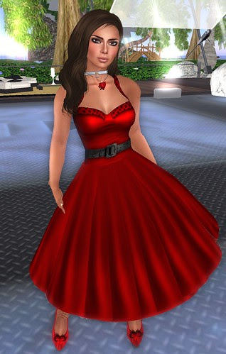 Lazy Sunday Havana Nights Vintage Dress red February 13 2011