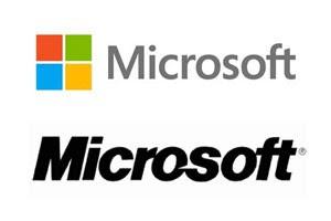 Novo logotipo da Microsoft, acima, foi anunciado nesta quinta-feira (23); abaixo, o logotipo antigo (Foto: Divulgação)