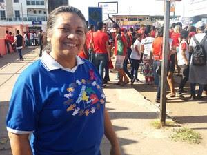Diretora, escola, Zolito Nunes, Raimunda Castro, Macapá, Amapá (Foto: Jorge Abreu/G1)