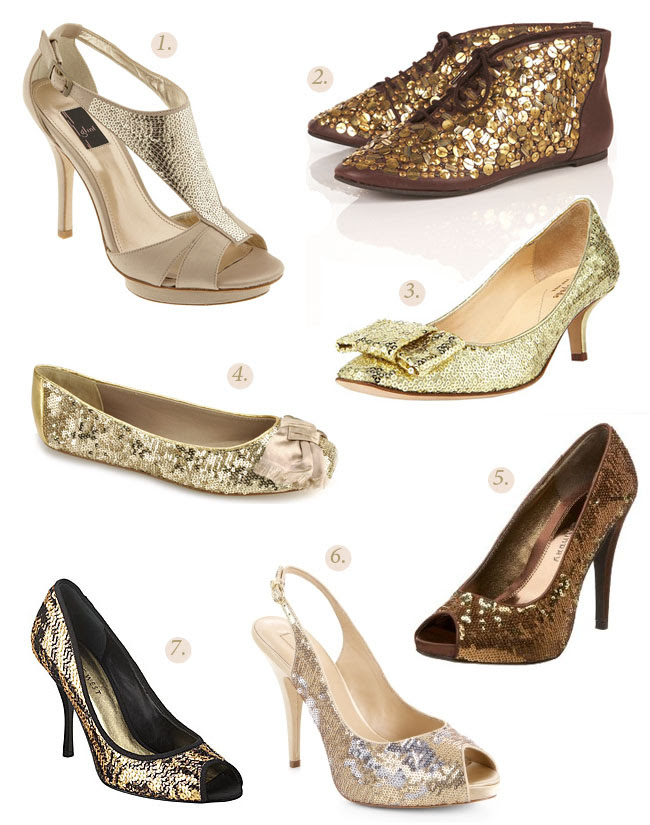 metallic wedding shoes 1 Glint 2 Topshop boots 3 Kate Spade 4