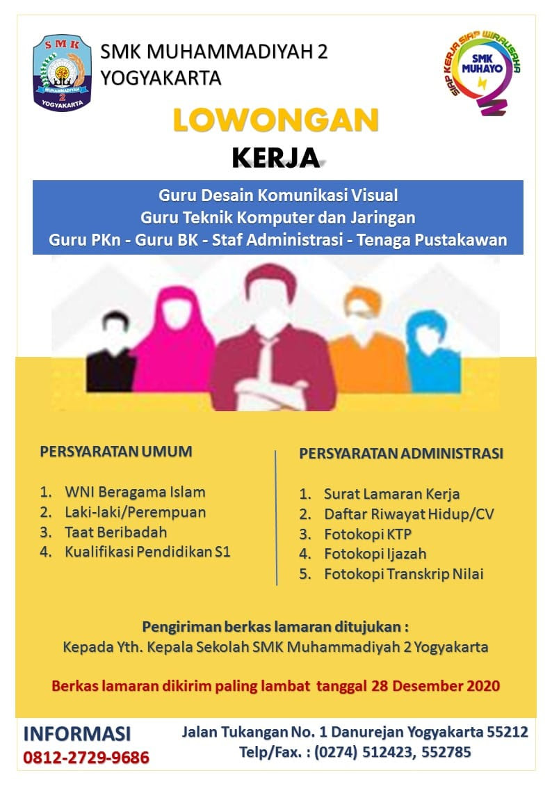 Lowongan Guru Smk Muhammadiyah 2 Yogyakarta Uny Community