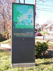 Gateway sign on Rhode Island Avenue NE, entering DC from MD