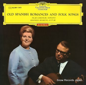 BEHREND, SIEGFRIED old spanish romances and folk songs