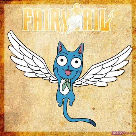 draw happy  fairy tail step  step anime