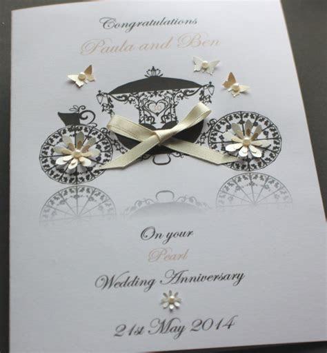 Personalised Handmade Wedding Anniversary Card 25th,30th