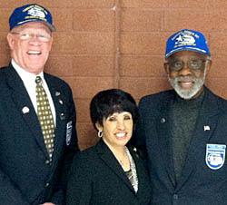 Theodore Lumpkin was joined by Lowell Steward, Jr. (son of Tuskegee Airman Major Lowell Steward) and Sallie Pratt