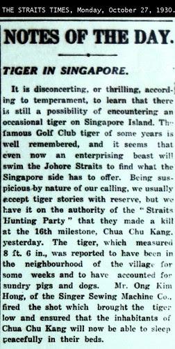 Choa Chu Kang Tiger 1930 ST