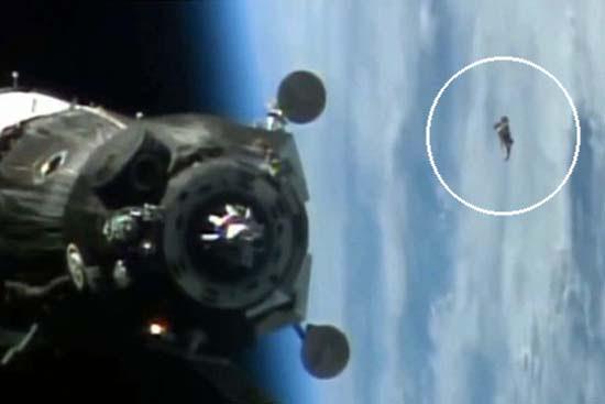 Satélite extraterrestre Caballero negro ISS