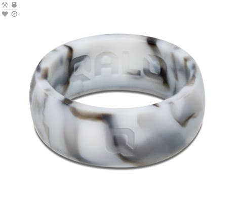Men's White Marble Silicone Ring   Wedding   Silicone