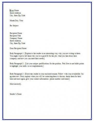 What Is A Resume Cover Letter Look Like  Job Application Cover Letter