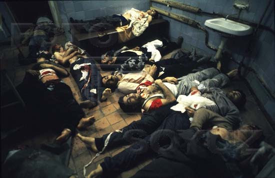 Dead bodies in the city morgue. Photo: Victoria Ivleva
