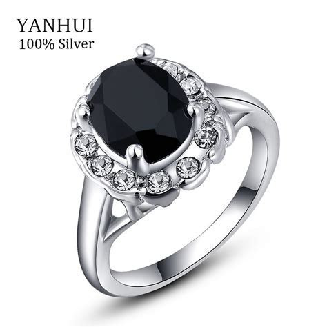 YANHUI Luxury White Gold Filled Wedding Rings For Women 3