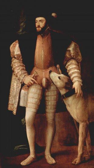 Retrato del emperador Carlos V con perro