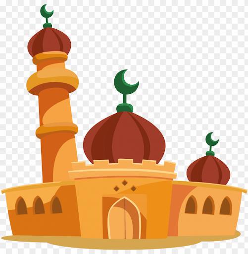 Gambar Kaligrafi Masjid Kartun