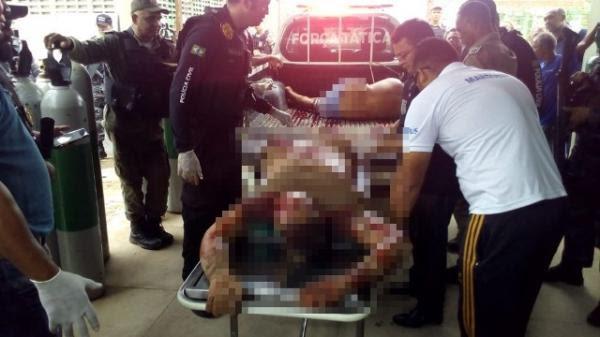 Assaltantes mortos em confronto com a Polícia de Floriano são identificados.(Imagem:Divulgação/PM)