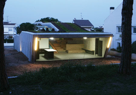 Villa Bio : Modern House With Green Roofing | Green Design Blog