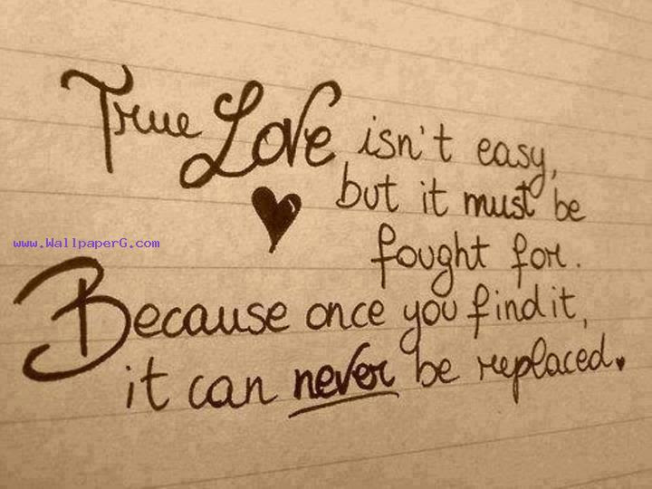 Download True Love Isnt Easy Heart Touching Love Quote Mobile Version