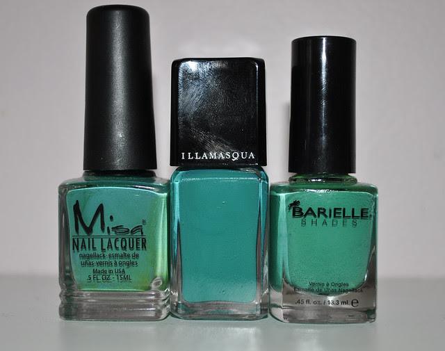 green nail polish cremes comparison