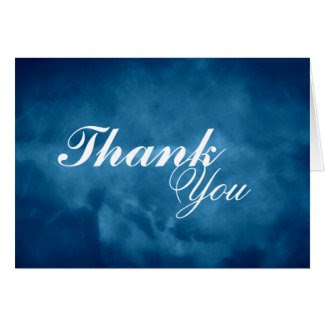Deep Blue Thank You Cards