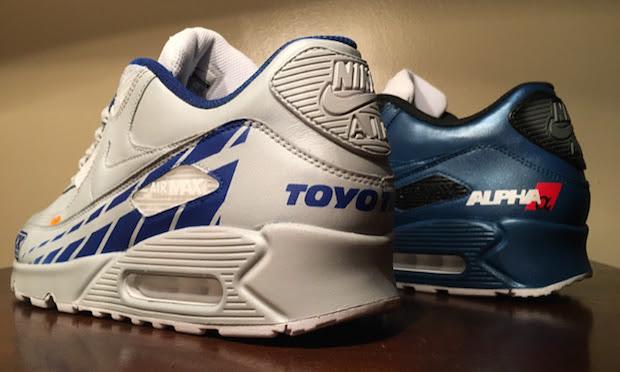 Paul Walker Tribute Custom Nike Air Max 90s By Kenneth Cole Customs
