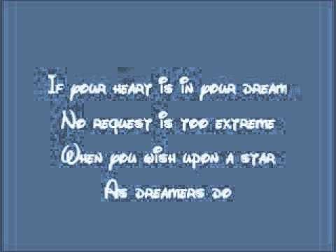 Disney Song When You Wish Upon A Star Lyrics