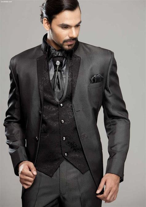 2018 Charcoal Mens tuxedo jacket Groom Tuxedos wedding