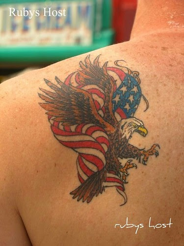 Mausmarperhy American Flag Eagle Tattoo