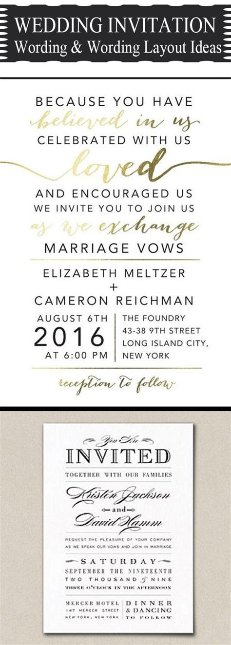 Best 25  Wedding invitation wording ideas on Pinterest
