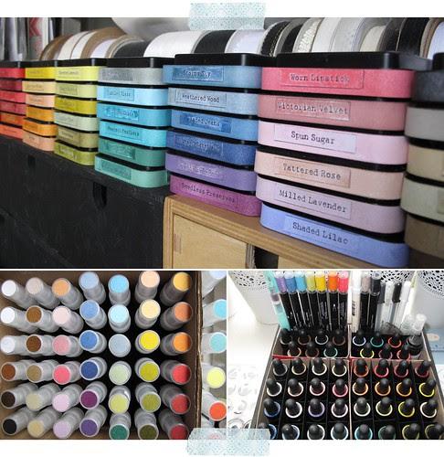 Distress Ink - labels - DIY sprays - reinker indexing