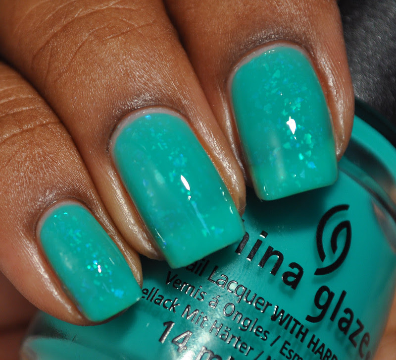China Glaze Keepin' It Teal swatch Finger Paints Motley nail polish