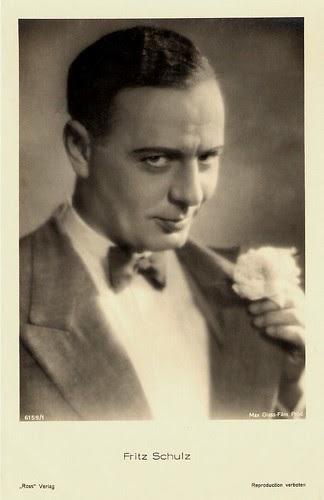 European Film Star Postcards Fritz Schulz