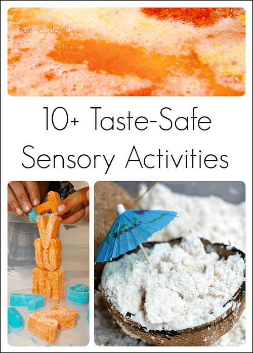 over 10 taste safe sensory activities for toddlers