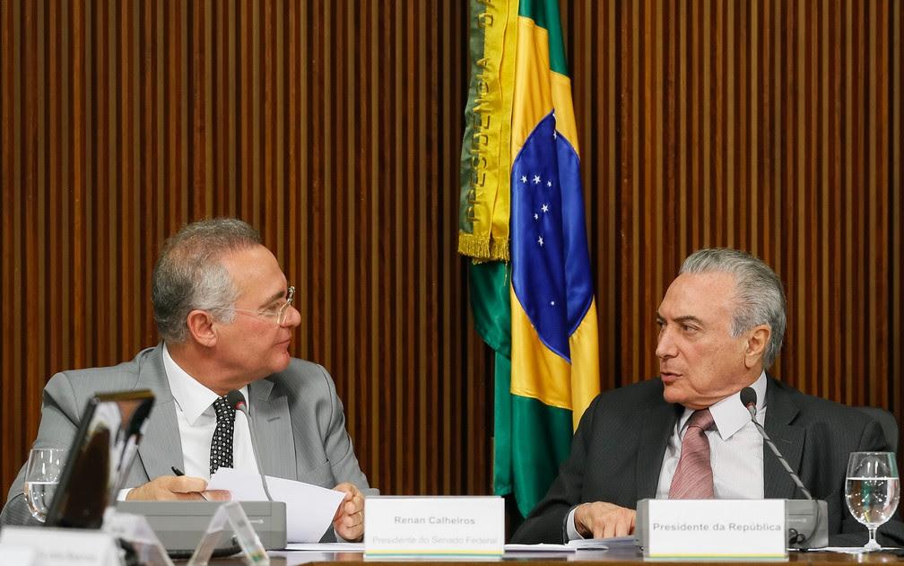 Resultado de imagem para Temer diz a senadores que fica na Presidência até o fim do mandato