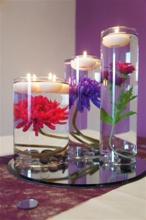 wedding table decoration flower in water   Wedding Ideas