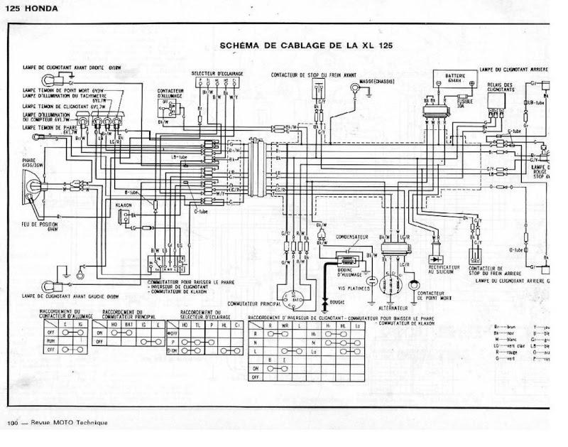 40 Schema Electrique Honda 250 Xl
