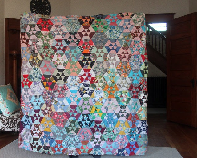 thrifted quilt top