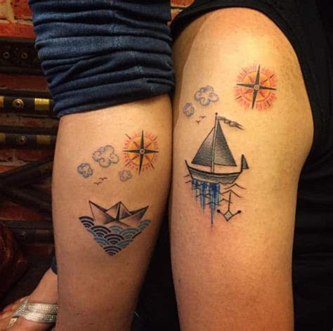meaningful matching tattoos couples march