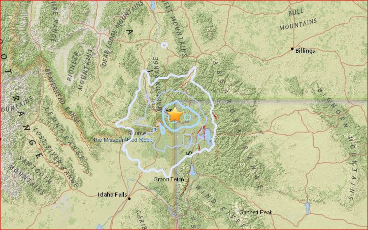 M4.5 earthquake yellowstone june 16 2017, earthquake yellowstone june 16 2017, series of earthquake yellowstone volcano june 2017, M4.5 earthquake and 5 aftershocks larger than M2.5 rattle Yellowstone supervolcano on June 16 2017