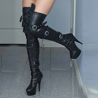 Cool Rivets & Buckles Decorated Knee High Boot