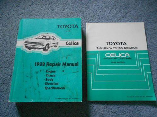 Buy 1988 TOYOTA CELICA SERVICE SHOP FACTORY MANUAL ...