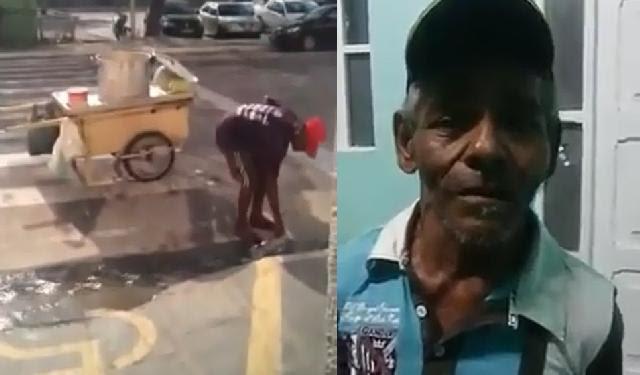 Caso do vendedor de milho qeu usou água de esgoto ganhou repercussão nacional, ao ponto de ele gravar vídeo pedindo desculpas