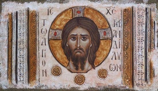 Monk Iacob, Mandylion (St. Tikhon's Hermitage, Mount Athos)