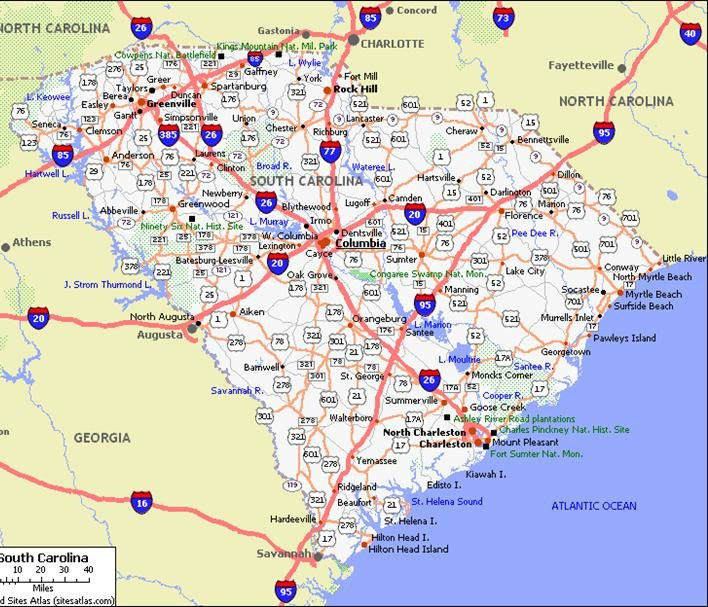 Map Of South Carolina Coastal Towns Pictures To Pin On